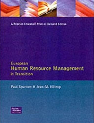 9780132020954: European Human Resource Management in Transition