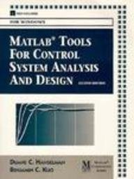 9780132022934: Matlab Tools for Control System Analysis and Design/Book and Disk (The Matlab Curriculum)