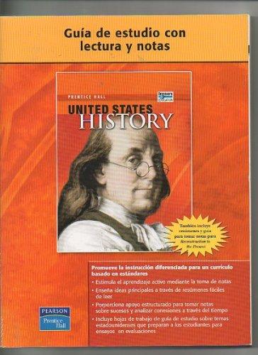 9780132025782: Guia De Estudio Con Lectura Y Notas United States History