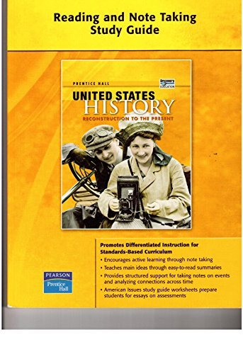 9780132025843: Prentice Hall United States History (Reading and Note taking Study Guide, Reconstruction to the Present)