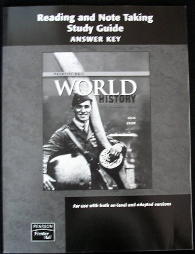 9780132025867: Reading and Note Taking Study Guide Answer Key, World History The Modern Era