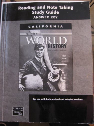 9780132025874: World History Reading and Note Taking Study Guide Answer Key