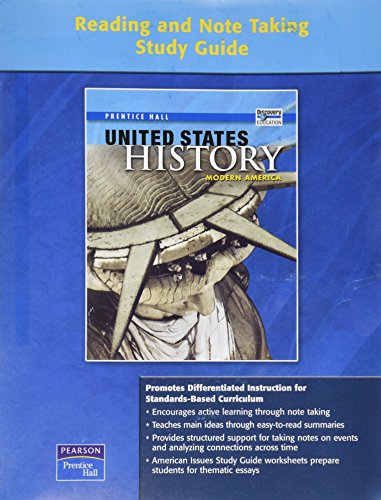 9780132026307: UNITED STATES HISTORY MODERN AMERICA READING AND NOTETAKING STUDY GUIDE ON-LEVEL 2008C