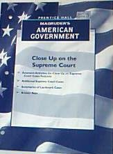 Magruder's American Government Close up on the: Pearson Prentice Hall