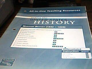 9780132028684: Manifest Destiny 1800 - 1850 All-in-One Teaching Resources (United States History)