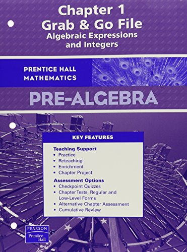 9780132029285: PRENTICE HALL MATH PRE-ALGEBRA GRAB AND GO FILES FOR CHAPTERS 1-13 (SHRINKWRAPPED) 2007C