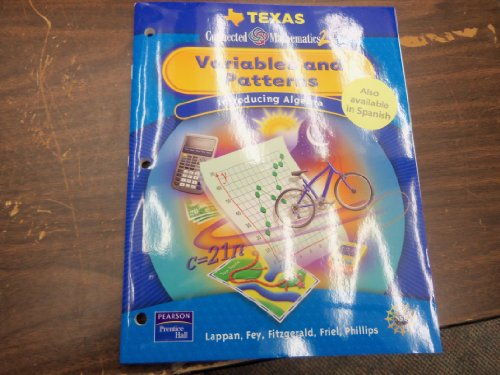 9780132029629: Texas Connected Mathematics 2: Variables and Patterns - Introducing Algebra, Student Workbook