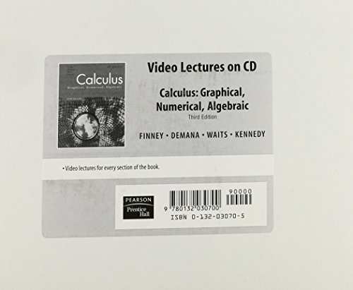 9780132030700: CALCULUS VIDEO LECTURES ON CD-ROM 2007C