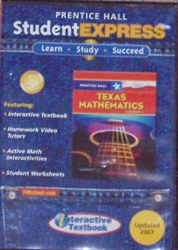 9780132030885: Prentice Hall Texas Mathematics Course 3 Student Express