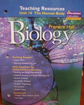 9780132034050: Unit 10: The Human Body; Teaching Resources (Biology)