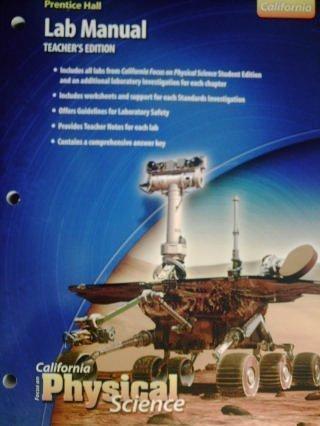 9780132034340: PH CA Focus on Physical Science Lab Manual TE (CA)(TE)(P)