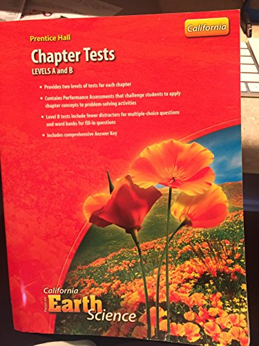 9780132034616: Prentice Hall Chapter Tests (Focus on California Earth Science, Levels A and B)