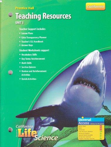 9780132034715: Prentice Hall Teaching Resources (Focus on California Life Science, Unit 3)