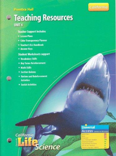 9780132034739: Prentice Hall Teaching Resources (Focus on California Life Science, Unit 4)
