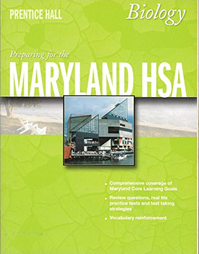 9780132036672: Preparing for the Maryland HSA - Biology