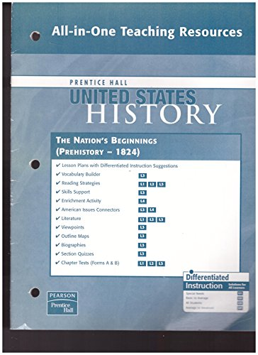 9780132037105: Prentice Hall United States History All-in-One Teaching Resources The Nation's Beginnings. (Prehistory-1824). (Paperback)