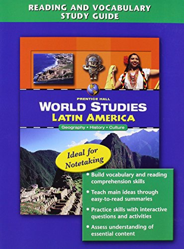 9780132042338: WORLD STUDIES LATIN AMERICA READING AND VOCABULARY STUDY GUIDE 2008C