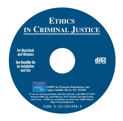 9780132043984: Ethics in Criminal Justice, A Scenario Based CD-ROM (9th Edition)