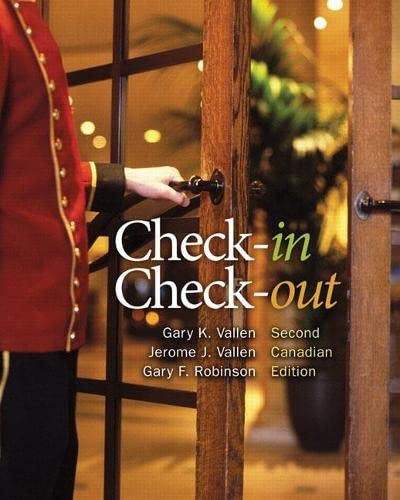 Check-in, Check-out, Second Canadian Edition (2nd Edition): Gary K. Vallen,