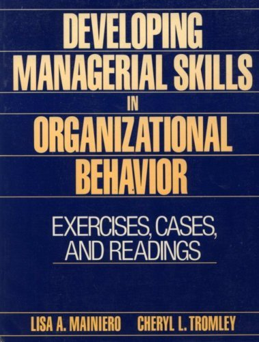 9780132045049: Developing Managerial Skills in Organizational Behaviour: Exercises, Cases and Readings