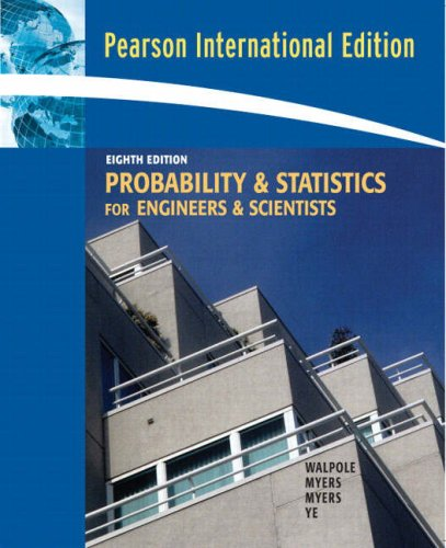 9780132047678: Probability & Statistics for Engineers & Scientists: International Edition