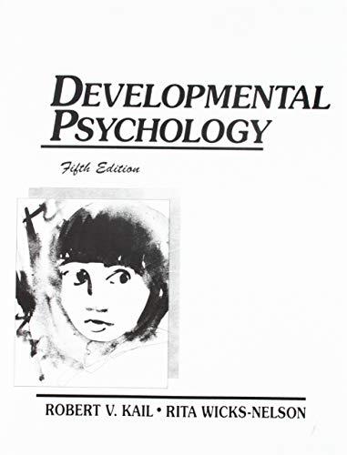 9780132051620: Developmental Psychology (5th Edition)