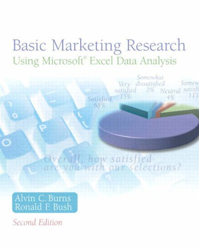 Basic Marketing Research Using Microsoft Excel Data: Burns, Alvin C,