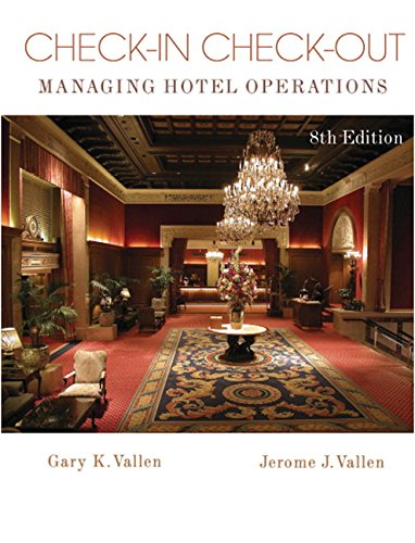 9780132059671: Check-In Check-Out: Managing Hotel Operations (8th Edition)