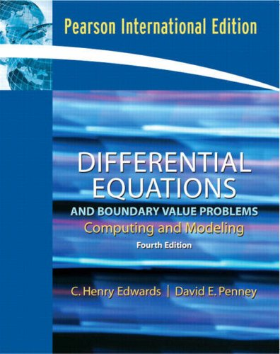9780132061155: Differential Equations and Boundary Value Problems: Computing and Modeling
