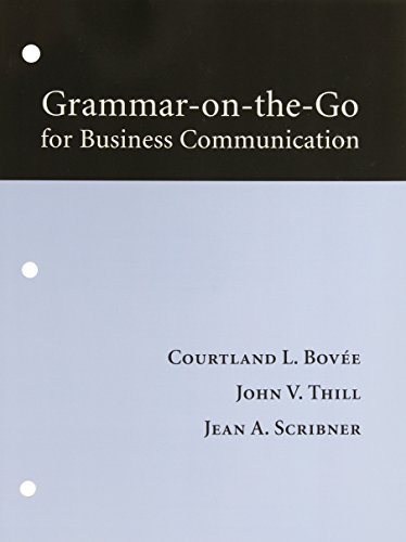 9780132063470: Grammar-on-the-go for Business Communication [Paperback] by