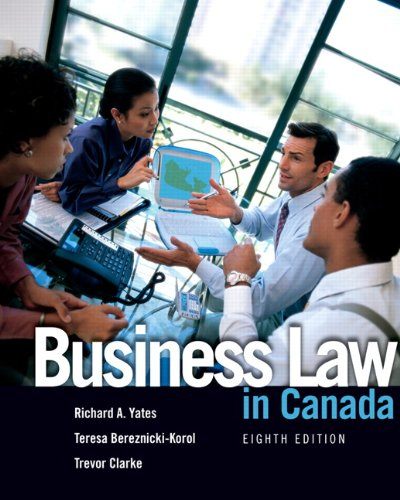 9780132065481: Business Law in Canada (8th Edition)