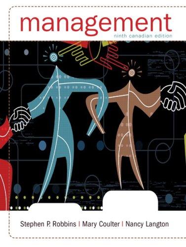 Management, Ninth Canadian Edition (9th Edition): Robbins, Stephen P.;