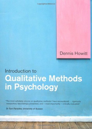 9780132068741: Introduction to Qualitative Methods in Psychology