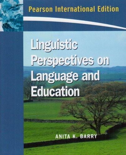 9780132069113: Linguistic Perspectives on Language and Education