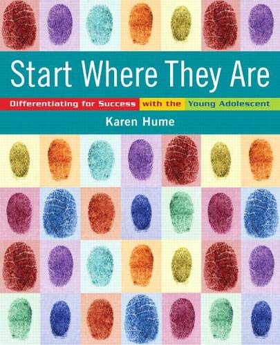 9780132069137: Start Where They Are: Differentiating for Success with the Young Adolescent [With CDROM]