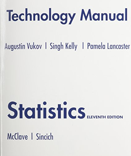 Technology Manual for Statistics: Anne T. Drougas,