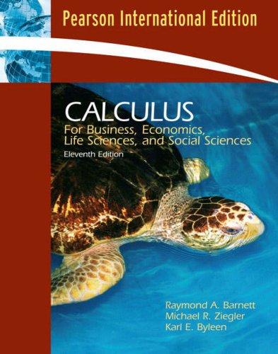 9780132069748: Calculus for Business, Economics, Life Sciences and Social Sciences