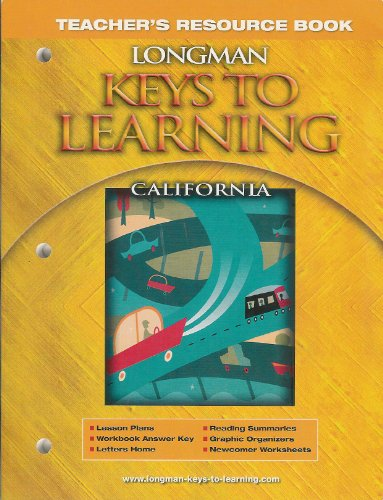 9780132073899: Longman Keys to Learning Teacher's Resource Book - California - Grades 4-8 (Longman Keystone)