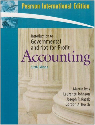9780132074285: Introduction to Government and Non-for-Profit Accounting
