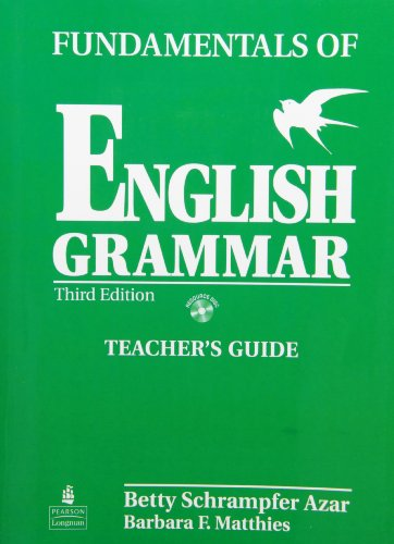 9780132074599: Fundamentals of English Grammar, Teacher's Guide (Book & CD)
