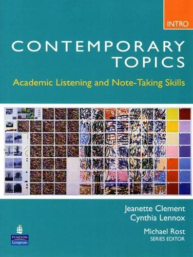 9780132075176: Contemporary Topics Intro: Academic Listening and Note-Taking Skills
