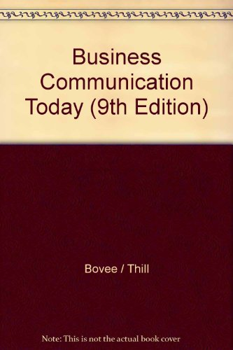 9780132076784: Business Communications Today, Student Value Edition (9th Edition)