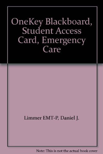 9780132079310: OneKey Blackboard, Student Access Card, Emergency Care
