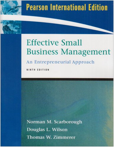 9780132079518: Effective Small Business Management