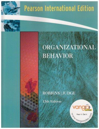 9780132079648: Organizational Behavior: International Edition
