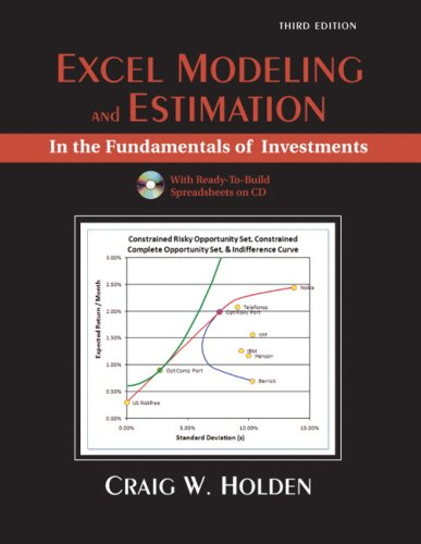9780132079914: Excel Modeling in Fundamentals of Investments