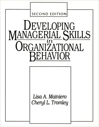 9780132081900: Developing Managerial Skills in Organizational Behaviour: Exercises, Cases and Readings