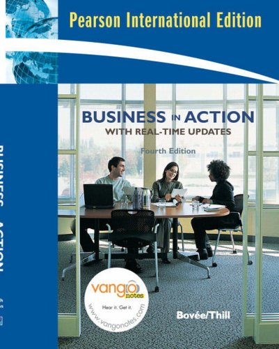 9780132082693: Business in Action with Real Time Updates: International Edition