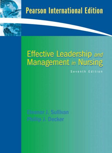 9780132083041: Effective Leadership and Management in Nursing