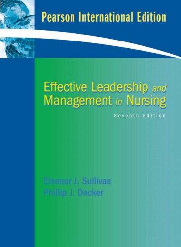 9780132083041: Effective Leadership and Management in Nursing: International Edition